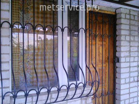 Віконна решітка Цибулина з гратчастої дверима