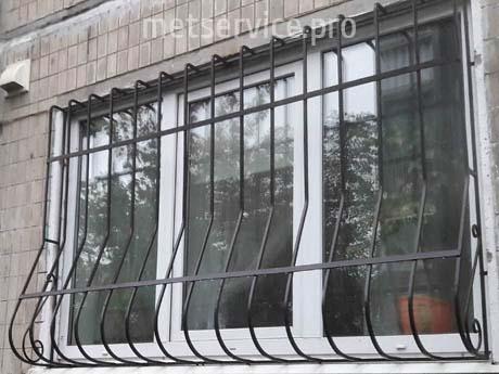 Віконна решітка Цибулина з виступом